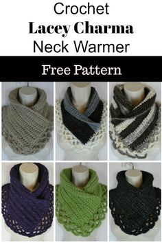 crochet lacey charma neck warmer |