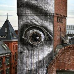 Share your graffiti and Street Art here. 3d Street Art, Murals Street Art, Urban Street Art, Amazing Street Art, Street Art Graffiti, Mural Art, Street Artists, Berlin Graffiti, Berlin Art