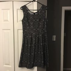 Black lace dress Size 8. Great for spring! Hits an inch above the knee. Would look great with a thick belt! Zip back. True size 8. Dresses Asymmetrical