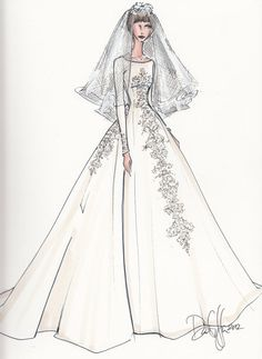 Custom Bridal Illustration SINGLE POSE by IllustrativeMoments, $130.00