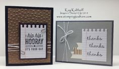 Leftovers from Hip Hip Hooray made Four More Cards! Kay Kalthoff, Stampin' Up!, Stamping to Share
