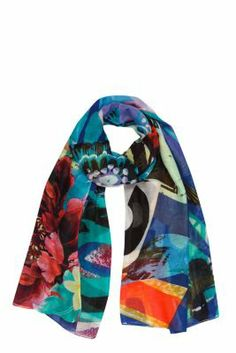 Desigual women's Desi scarf. Our maxi-scarves are on fire!