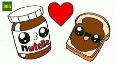 How to draw a nutella is the point of this video. Draw a nutella it isn't hard an now I'll teach you. In 365 Sketches I'll teach you step by step drawing les. Kawaii Girl Drawings, Cute Food Drawings, Bff Drawings, Cartoon Drawings, Kawaii Doodles, Cute Doodles, Kawaii Halloween, Griffonnages Kawaii, Cute Disney