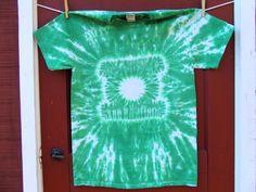 Super Hero Tie Dye TShirt  Green Lantern  Adult by twirlytoes