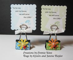 retreat party favors | Binder clip party favor for a bible verse tag, photo or recipe card ...