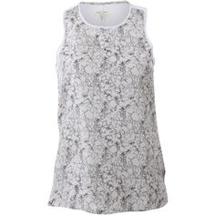 Rag & Bone Clayton Tank ($220) ❤ liked on Polyvore featuring tops, floral tank top, loose white tank top, loose tank tops, long tank tops and america tank top
