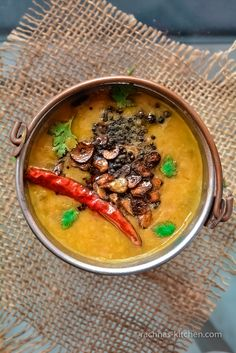 The best homemade lentils - Dal fry  http://www.rachnas-kitchen.com/dal-fry-recipe/ #dalfry #indianlentils #daltadka #rachnaskitchen