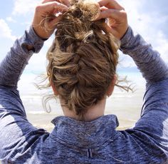 French Braid Bun Combo {lifeinbobbypins.weebly.com}