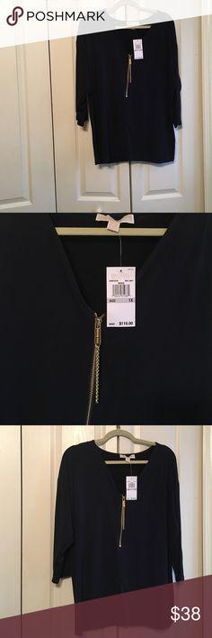 Michael Kors Ladies Blouse Size 1X NWT Michael Kors Ladies Blue Blouse NWT Size 1X Michael Kors Tops Blouses