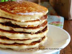 I got the original recipe from my mother-in-law who was a busy school teacher who cooked pancakes every morning!  You won't need Krusteaz once you try these amazing pancakes!