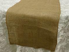 Authentic Rustic Burlap Runner � Natural Tone | Tablecloths Factory