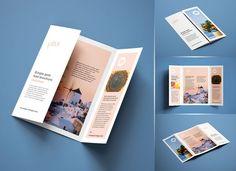 The amazing Free Single Gate Fold Brochure Mockup Psd Set Brochure Indesign, Brochure Folds, Template Brochure, Brochure Layout, Adobe Indesign, Brochure Ideas, Creative Brochure, Leaflet Design, Booklet Design