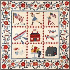 from VICTORY GIRLS Patriotic Quilts and Rugs of WWII by Polly Minick & Laurie Simpson