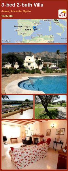 3-bed 2-bath Villa in Javea, Alicante, Spain ►€485,000 #PropertyForSaleInSpain