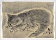 Tsuguharu Foujita (French, 1886–1968). Cat,1926. The Metropolitan Museum of Art, New York. Bequest of Miss Adelaide Milton de Groot (1876-1967), 1967 (67.187.7)