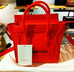 We love red. We also love Céline! #celine #womensfashion #womenswear #womensapparel #womenstyle #purses #handbags #accessories #style #stylechat #bluelabelfashion #blapproved
