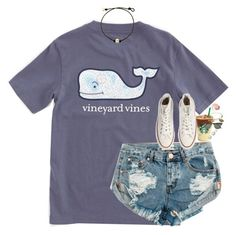 """""""chill, beach"""" by classynsouthern ❤ liked on Polyvore featuring Vineyard Vines, One Teaspoon, Converse, Honora, Ray-Ban, Alex and Ani and NARS Cosmetics"""