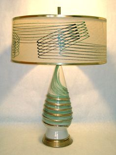 Another version - this time GREEN - of my pink bedroom lamps!