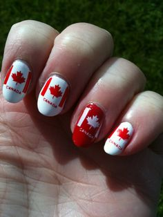 Canadian Nails <3 for my justin bieber nails!