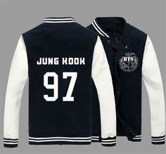 KPOP BTS Bangtan Boys Jung Kook J-hope JIN Jimin V Suga Cotton Sweatshirts Outerwears unisex Baseball Coat Jacket