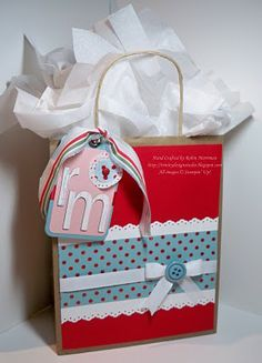 Stampin' Up! Gift Bag by Robin M at Trinity Designs: