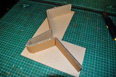 Mettre une bande en carton sur la lettre en 3D