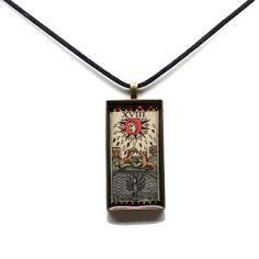 The Moon   $59.99   www.studiokittie.com #Tarot #TarotCard #Jewelry