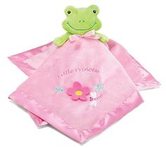 Adorable Pink Frog Security Blanket For Nursery Decor,Toddlers And Infants $13.50