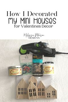 Recently my daughter returned home from a work trip and brought me these mini houses she found at Target as my souvenir! How cute are these? Let's see what I can do with them! Valentine Day Wreaths, Valentine Day Crafts, Valentine Decorations, Work Trip, Mini Houses, Home Activities, Valentine's Day Diy, Diy Home Crafts, Work Travel