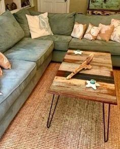 Love this #rustic coffee table and coastal accents! @istandarddesign