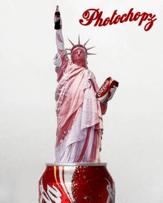 -The Coca Cola statue - Funny Photoshopped Pictures Lady Liberty Funny Statues, Poseidon Statue, Statue Tattoo, New Project Ideas, Always Coca Cola, Greek Statues, Finding A Hobby, Head Statue, Stone Statues