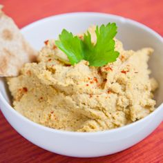 Smoked Paprika & Caper Hummus - The flavor is like a healthy tuna salad minus the fishy smell and the actual fish.