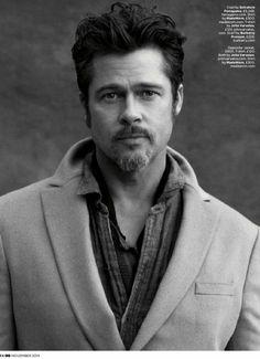 Brad Pitt for British GQ, November 2014