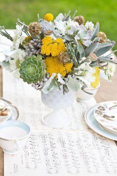 yellow + gray + florals @Jenna Siman