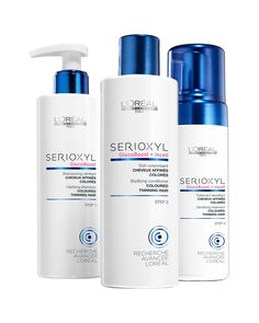 L'Oréal Professionnel Serioxyl Fuller Hair 12 Anti-thinning program for Coloured, Thinning Hair.