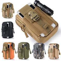 Efanr Universal Outdoor Tactical Holster Military Molle Hip Waist Belt Bag Wallet Pouch Purse Phone Case with Zipper for iPhone 7 6s Plus 5S Samsung Galaxy S7 S6 LG HTC and More Khaki ** To view further for this item, visit the image link. Note: It's an affiliate link to Amazon
