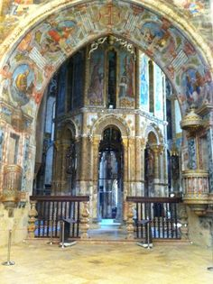 Inside the charola - Tomar Portugal