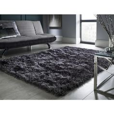 Dazzle Charcoal Rug with Sparkles 120x170cm - Flair | Furniture123