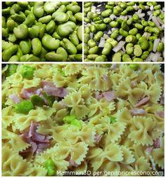 Pasta fave e prosciutto cotto - Menu verde e rosa per Genitoricrescono http://genitoricrescono.com/menu-verde-e-rosa-per-mettere-daccordo-tutti/