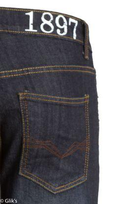 1897 Jeans Mens Contemporary Dark Wash Slim Straight Fit Denim GL10519G