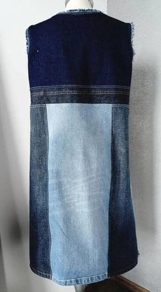 Patchwork clothes diy recycled denim ideas for 2019 Blue Jeans, Vintage Jeans, Blue Jean Dress, Diy Jeans, Denim Ideas, Recycled Denim, Recycled Clothing, Jeans Material, Patchwork Dress