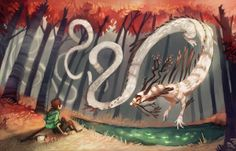 A Dragon Meeting by Amanda Mullins, via Behance