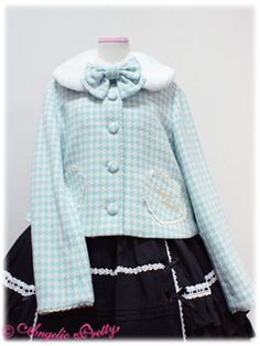 Lolibrary | Angelic Pretty - Coats - Girly Heart Short Coat (Houndstooth)