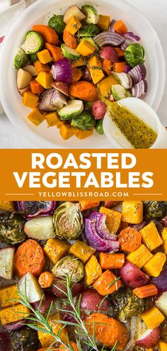 Oven Roasted Vegetables are deliciously tender and roasted in a crave-worthy sea. - Vegetables - Oven Roasted Vegetables are deliciously tender and roasted in a crave-worthy seasoning blend. Get tips for perfect roast veggies side dish every time! Healthy Side Dishes, Vegetable Side Dishes, Side Dish Recipes, Dinner Recipes, Rib Side Dishes, Dinner Ideas, Roasted Veggies In Oven, Roasted Vegetable Recipes, Vegetable Recipes For Dinner