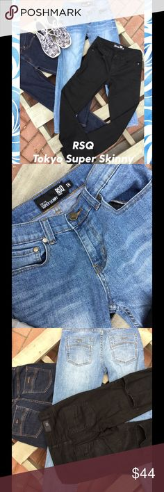 Tilly's RSQ Tokyo Super Skinny 3 Pairs of RSQ Jeans. Like New my son is growing like a weed. Inseam 29 1/2 RSQ Tokyo Skinny Jeans Bottoms Jeans