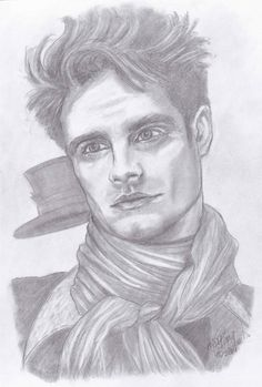 Original Portrait Sketch of The Mad Hatter from ABCs Once Upon a Time actor Sebastian Stan on Etsy, $19.95