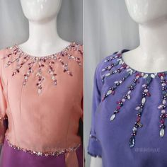 Bead Embroidery Tutorial, Embroidery Neck Designs, Bead Embroidery Patterns, Beaded Embroidery, Kimono Fashion, Fashion Outfits, Women's Fashion, Kebaya Wedding, Gown Party Wear