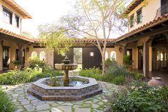 Santa Ynez Ranch Courtyard - mediterranean - Landscape - Santa Barbara - Allen Construction