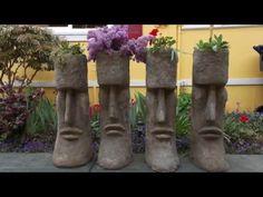 Cement Art: Hypertufa Planters, Moai Sculptures, Seattle, Snohomish,  Pacific Northwest