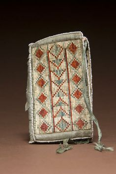 Athapaskan Quilled Hide Needle Case, - Cowan's Auctions Needle Case, Dena, Native Americans, Fallout, Alaska, Auction, Posters, Chain, Art